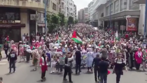 Casablanca, Morocco stands with Palestine May 22 2018