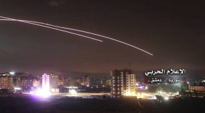 Israel hitting Damascus May 9 2018 (AP)