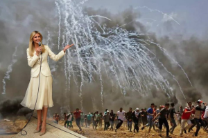 Ivanka in Jerusalem by Artists for Palestine UK May 14 2018