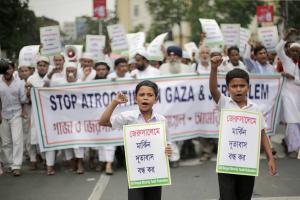 Muslims of Kolkata stand with Palestine (Shehab News) May 22 2018