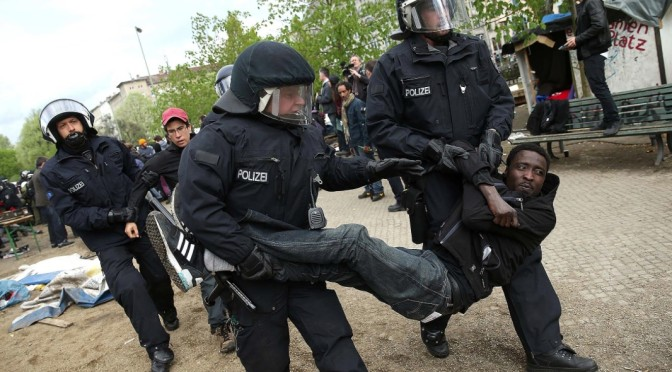 African immigrants in Germany under siege