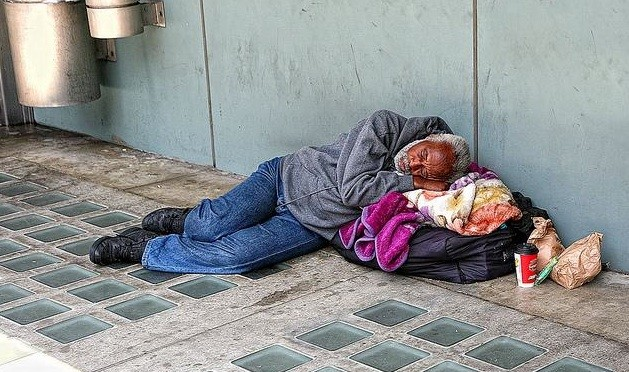 Homeless in Los Angeles, USA