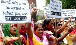 Anti-rape protest Uttar Pradesh June 5 2014