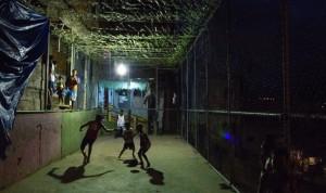 Fevela soccer court in Rio June 11 2014