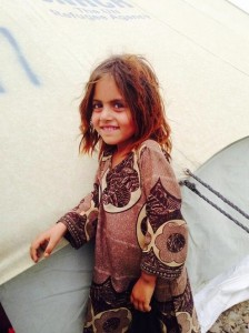Afghan girl refugee July 6 2014