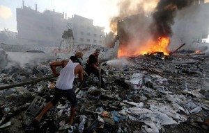 Gaza City destruction July 25 2014
