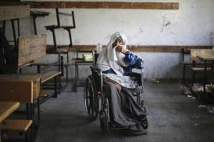 Gaza at UN refuge school (July 21 2014)