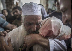 Gaza funeral in Rafah July 17 2014