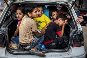 Gazan refugees July 23 2014