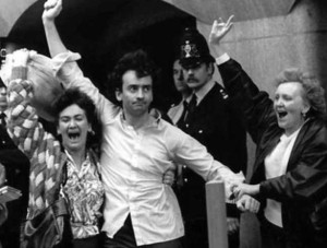 Gerry Conlon released from Old Bailey in 1989