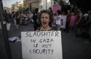 Israeli protester July 10 2014
