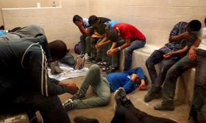 McAllen holding cell for immigrants July 17 2014