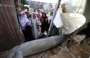 Rafah missile on Bedouin home July 14 2014