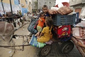 Displaced Gazans August 7 2014