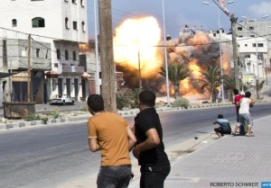 Gaza City bombing August 24 2014