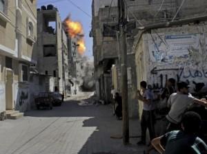 Gaza; Israeli bombing August 26 2014