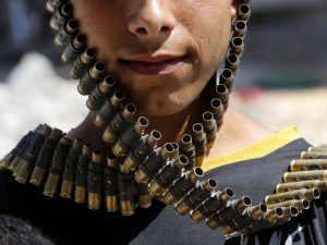 Gaza boy with Israeli bullets August 19 2014