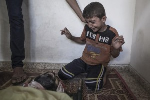 Gaza- grieving boy August 1 2014