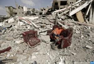 Gaza man and child August 6 2014