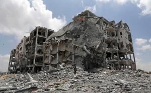Gaza rubble August 5 2014