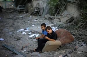 Gazan boys August 5 2014