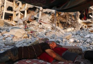 Homeless in Gaza August 13 2014