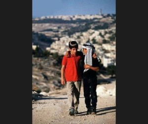 Jewish and Palestinian boys July 28 2014