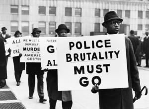 Black Muslim protest vs police brutality (Gordon Parks, 1963)