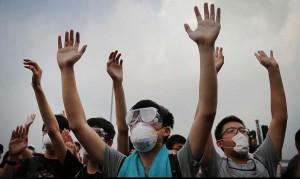 Hong Kong hands up Oct 3 2014