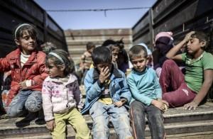 Syrian kids Sept 28 2014  (Bulent Kilic:AFP:Getty Images)