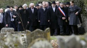Jewish cemetary desecration in Sarre-Union, France (AFP) Feb 18 2015