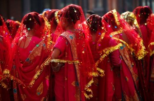 Mass wedding Nepal (Narendra Shrestha:EPA) Feb 16 2015