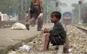 A street child in Srimangal Railway Station, Bangladesh (from Eikipedia) Mar 24 2015