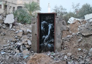 Banksy in Gaza Mar 1 2015