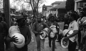 Civil rights protesters with helmets (Dan Budnik:Contact Press Images)  Mar 8 2015