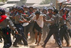 Myanmar protests (Soe Zeya Tun:Reuters) Mar 10 2015
