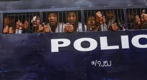 Myanmar student protesters (Soe Zeya Tun:Reuters) Mar 12 2015