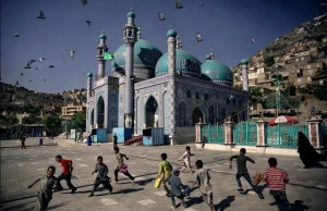 Afghan mosque and children (Souvid Datta) May 12 2015