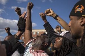 Freddie G protest:Baltimore (Adrees Latif) Apr 29 2015