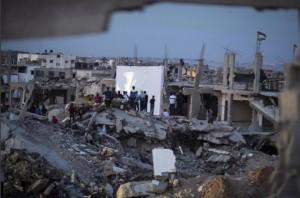 Gaza film festival (Emad Drimly:Xinhua Press:Corbis) May 13 2015