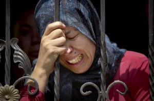 Grieving mother of Mohammed Yehya (Majdi Mohammed:AP) May 6 2015