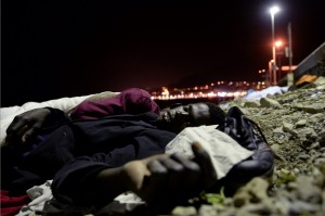 African immigrant at Italy:France border (Massimo Pinca:AP)