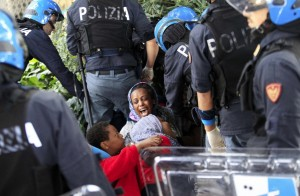 African immigrants at Ital border (Jean Christophe Magnenet:AFP:Getty Images) June 16 2015