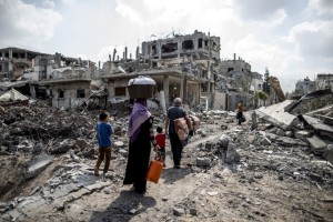 Gaza after Op Ethnic Cleansng 2014 (from Independent.cco.uk) June 14 2015