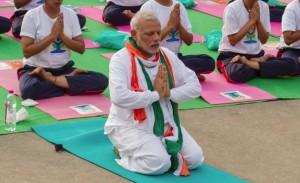 Modi doing yoga (from CNN) June 22 2015