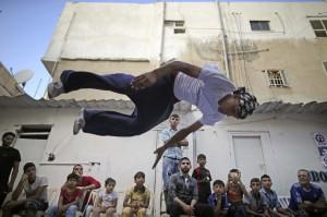 Parkour in Gaza (Christopher Furlong:Getty Images) June 13 2015