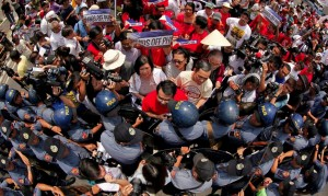 Philippine antiwar protest (Francis R. Malasig:EPA) June 12 2015
