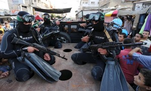 Al-Qassam Brigades parade (Ibraheem Abu Mustafa:Reuters) July 14 2015