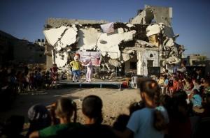 Gaza children's theater ( Mohammed Salem:Reuters) July 13 2015