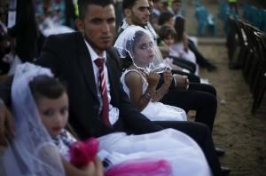 Gaza group wedding (Suhaib Salem:Reuters) July 22 2015
